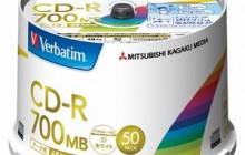 [三菱化学メディア] CD-R 48倍速50枚スピンドル PC DATA用