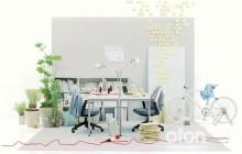 [ nendo × KOKUYO ]  ofon コンパクトオフィス 家具